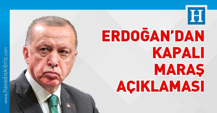 Recep Tayyip Erdoğan, kapalı Maraş Maraş, KKTC, Kıbrıs, Türkiye,