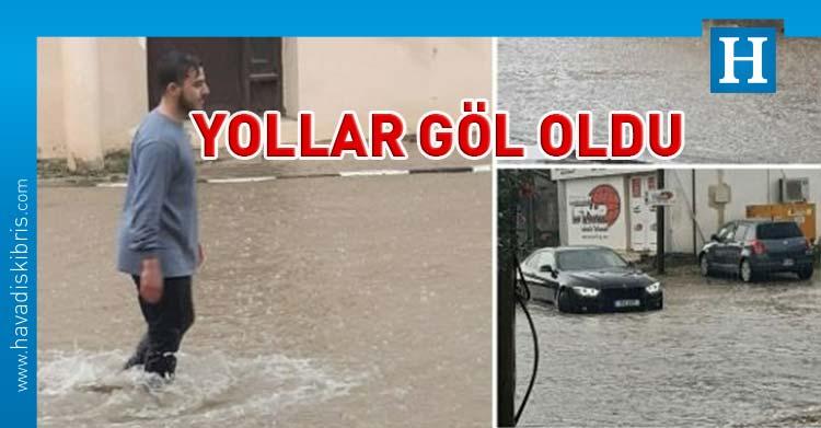 iskele'de yağmur