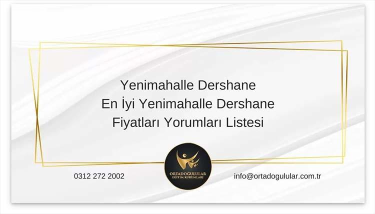 Ankara Yenimahalle Dershane tavsiye