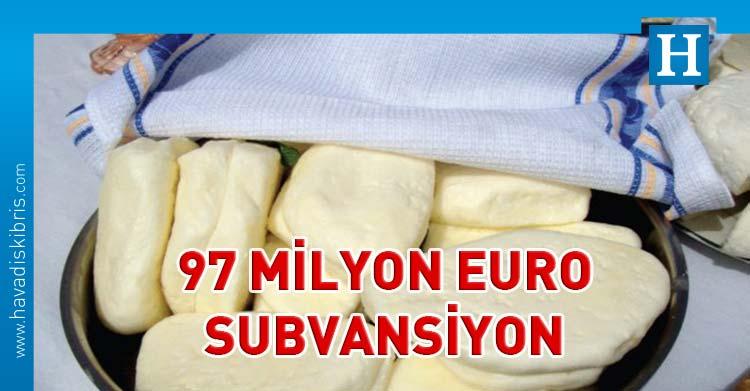 Güney'de hellim için 97 milyon Euro'luk sübvansiyon