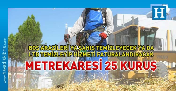 LTB arazi arsa ot temizlik ücreti