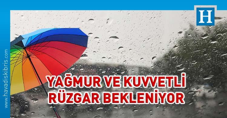 KKTC hava durumu kuvvetli rüzgar ve yağmur
