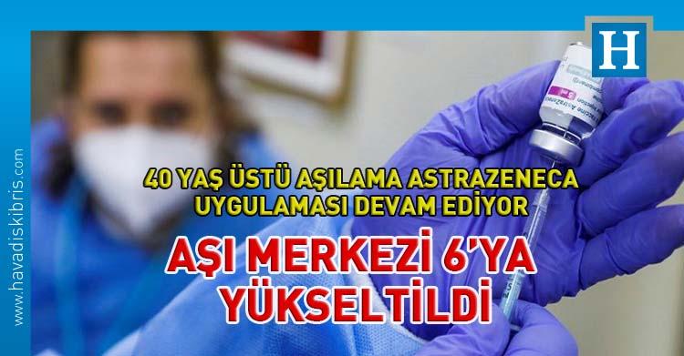 KKTC'de AstraZeneca aşısı