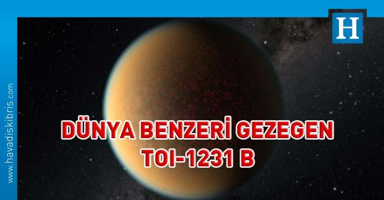 dünya benzeri gezegen TOI-1231 b