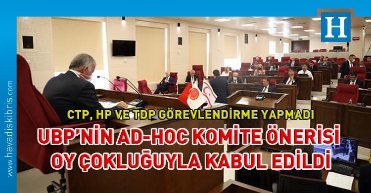 seçim tarihi belirlemek için geçici ve özel ad-hoc komite kurulması