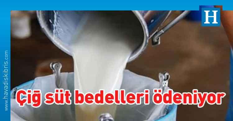 çiğ süt bedelleri