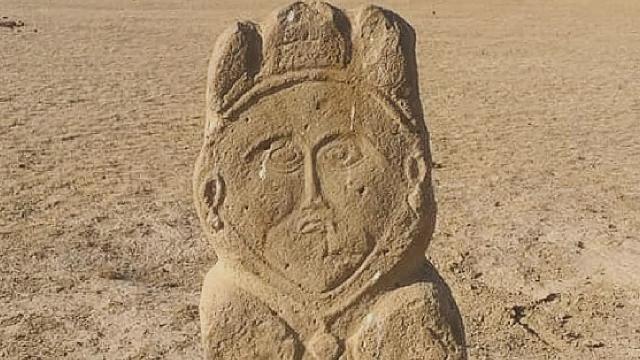 Kazakistan'da 1300 yıllık eski Türk dönemine ait taş heyke