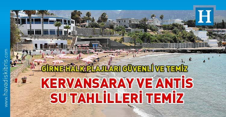 Kervansaray Halk Plajı Ve Antis (Karaoğlanoğlu) Belediye Plajı'nın Deniz Suyu Tahlilleri Temiz