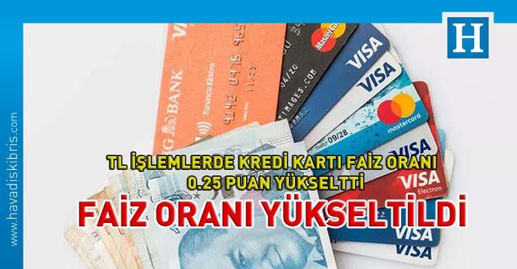 kredi kartı faiz oranı