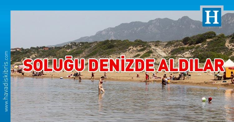 vatandaşlar denize akın etti