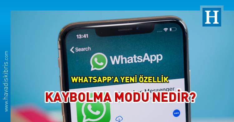 WhatsApp Kaybolma modu