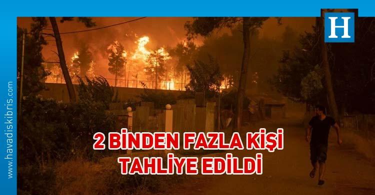 yunanistan orman yangını Evia adası