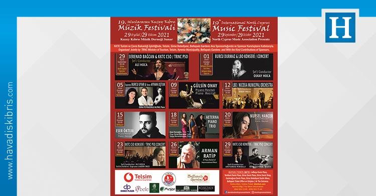 19. Uluslararası Kuzey Kıbrıs Müzik Festivali başlıyor.