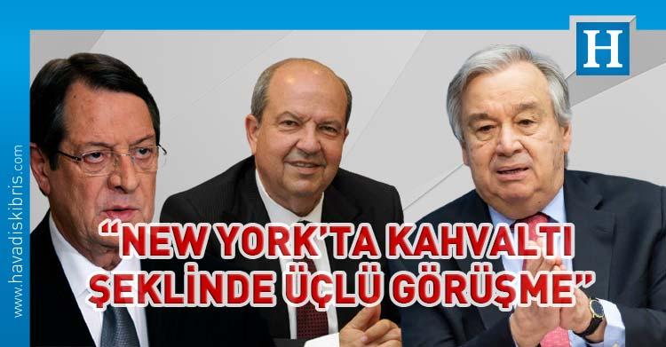 : Rum Yönetimi Başkanı Nikos Anastasiadis, BM Genel Sekreteri Antonio Guterres ve Cumhurbaşkanı Ersin Tatar ile New York'ta üçlü görüşme yapılacağını açıkladı.