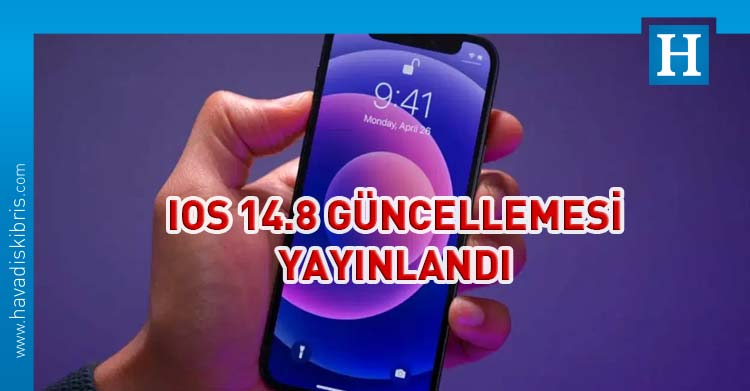 apple ios 14.8 güncellemesi