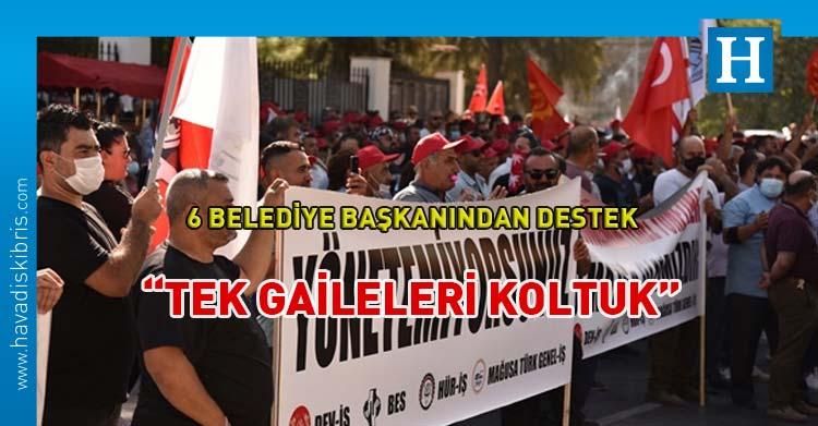 28 belediyede örgütlü 4 sendikadan Meclis önünde eylem