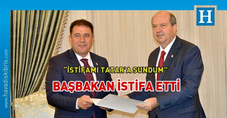 başbakan ersan saner istifa etti